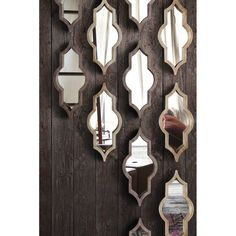 Irregular Wood Framed Wall Mirror Wall-to-wall mirrors When put on large areas, the buying price Morrocan Decor, Moroccan Tiles, Moroccan Design, Spiegel Design, 3d Cnc, Moroccan Pattern, Wall Decor, Room Decor, Frames On Wall