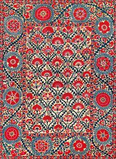 Shakhrisyabz Suzani. Central Asia, Uzbekistan, ca. 1800. Rippon Boswell & Co.