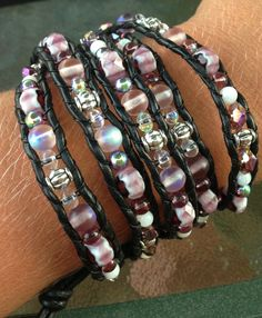 Fancy purple wrap bracelet