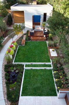 Small backyard beautifully landscaped
