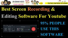 2016 Best No 1 Screen Recording And Editing Software For Youtube Many People Ask Question How To Recode Computer Screen With Hd  Today I Suggest World's Best Screen Recording And Editing Software  This Software Name Is Camtasia Yes This software is world's Best screen recoding and editing software in youtube 95% people use this software to create video.  How to Record Screen How To Create A Video Guide Top 1 Free Screen Recording Software For Windows  Screen Capture Software | Capture Screen…