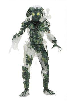 Predator – Jungle Demon Predator (camo/cloaked) Neca Predator www. Predator Figure, Predator Action Figures, Predator Movie, Alien Vs Predator, Predator Costume, Mighty Ape, 30th Anniversary, Geek Gifts, Gi Joe