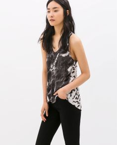 ZARA - NEW THIS WEEK - PRINTED TANK TOP