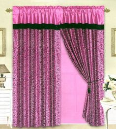 Black/Pink Flocking Leopard Satin Window Curtain Drape Set+Sheer Liner+Valance, http://www.amazon.com/dp/B006N0LP8C/ref=cm_sw_r_pi_awdm_8N-mub1NQPJ64
