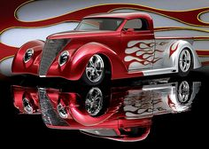 Beautiful '37 Ford Truck Street Rod