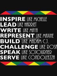 Inspire Like Michelle Black History Month Women Leaders by blackartmatters