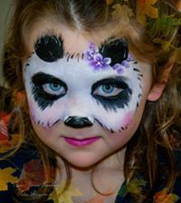 Panda Face Painting, Face Painting Tips, Face Painting Designs, Painting For Kids, Face Paintings, Maquillage Halloween, Halloween Makeup, Frozen Face Paint, Kids Makeup