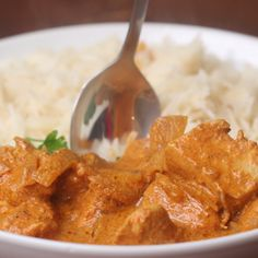Slow Cooker Butter Chicken w/ curry powder Slow Cooker Recipes, Crockpot Recipes, Chicken Recipes, Cooking Recipes, Healthy Recipes, Milk Recipes, Tasty Videos, Food Videos, Cooking Videos Tasty