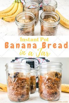 Instant Pot banana bread in Jars are incredibly easy to make and cook much faster than regular instant pot banana bread. We love how cute this instant pot mason jar recipe comes out! It makes a perfect gift or easy breakfast on the go. Mason Jar Meals, Meals In A Jar, Mason Jars, Instant Pot Pressure Cooker, Pressure Cooker Recipes, Pressure Pot, Pressure Cooking, Pots, Make Banana Bread