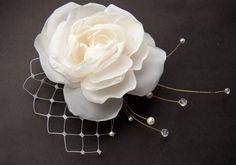 Wedding Hair piece Rose Hair Clip Bridal Hair by floraljewellery
