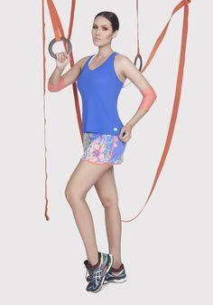 Short saia estampado 130003 e Regata light básico 110001*