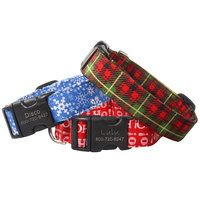 It's never too early to start prepping for the best holiday of all - Christmas!! Love these Holiday patterned collars, tags and more at dogIDs.com.
