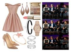 """""""James Corden's Late Late show with One Direction"""" by livvy-horan ❤ liked on Polyvore featuring Chi Chi, Christian Louboutin, Stila and Burberry"""