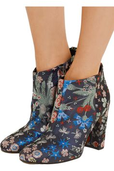 Shop on-sale Sam Edelman Cambell floral-brocade ankle boots. Browse other discount designer Boots & more on The Most Fashionable Fashion Outlet, THE OUTNET.COM
