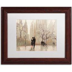Trademark Fine Art An Evening Out Neutral Canvas Art by Julia Purinton, White Matte, Wood Frame, Size: 16 x 20