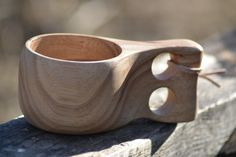 Kuksa - traditional carved wood burl cup, easy to clean, mostly unbreakable, naturally insulating.