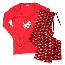3a76fe211a Capelli® Scottie Red 2-Piece Ladies Pajama Set - Small Scottie