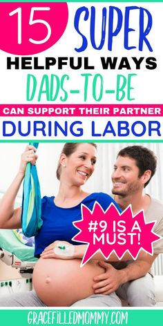 Going through labor is one of the most intense & overwhelming experiences in a woman's life. Its important to find ways dads to be can support their partners during labor. Pregnancy Advice, First Pregnancy, Mom Advice, Parenting Advice, First Time Dad, Breastfeeding And Pumping, Strong Marriage, Natural Birth, New Dads