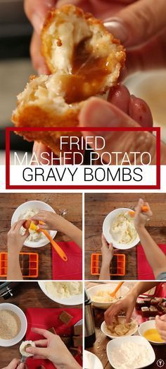 Fried potato and gravy ballzzzz
