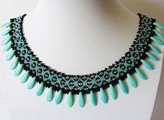 Free pattern for beaded necklace Sogdiana by Lyubov Buntova   Design and photo byLyubov Buntova       Click to