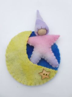 Star baby in moon pocket Waldorf by greenmountain on Etsy