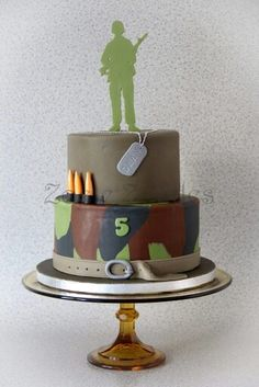 Army cake Army Cake, Military Cake, Military Party, Cake Pics, Cake Pictures, Fondant Cakes, Cupcake Cakes, Cupcakes, Pastry Art