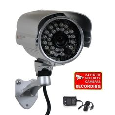 VIDEOSECU 600TVL IR OUTDOOR SECURITY CAMERA 1/3 SONY EFFIO CCD WEATHERPROOF DAY NIGHT VISION 3.6MM WIDE VIEW ANGLE LENS CCTV CAMERA FOR DVR HOME SURVEILLANCE SYSTEM WITH FREE POWER SUPPLY A73