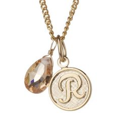 monogram charm necklace :: love these for gifts!