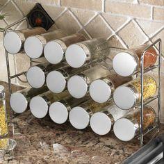 Polder Compact 37 Piece Spice Rack & Jar Set & Reviews | Wayfair