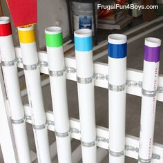 How to Make a PVC Pipe Xylophone Instrument - Frugal Fun For Boys and Girls Diy Projects Pvc Pipes, Pvc Pipe Crafts, Diy Craft Projects, Projects For Kids, School Projects, Pvc Pipe Instrument, Instrument Music, Musical Instruments, Backyard Playground