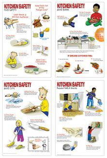 Kitchen Safety Posters Printable   Google Search
