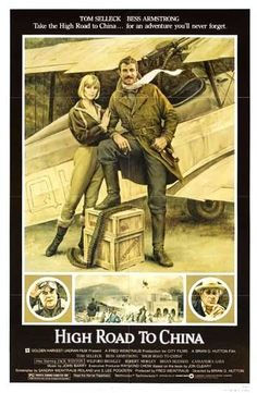 HIGH ROAD TO CHINA -1983- Orig 27x41 movie poster - TOM SELLECK, BESS ARMSTRONG