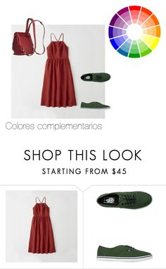 Colores complementarios by roxana-montano-puga on Polyvore featuring moda, Abercrombie & Fitch, Vans and Chloé