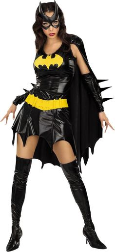 Sexy Batgirl Costume for Women - Party City - would have to make more modest with a long sleeve Tshirt and leggings for Lexy - would add a tutu