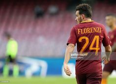 Alessandro Florenzi of Roma during the Serie A match between SSC Napoli and AS Roma at Stadio San Paolo on October 15, 2016 in Naples, Italy.
