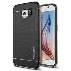 97451d1cb62 Galaxy S6 Case, Spigen [METALLIZED BUTTONS] Neo Hybrid Series Case for  Samsung Galaxy