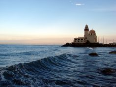 Lighthouse by the Red Sea in Jeddah, Saudi Arabia