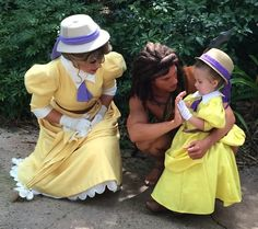 I know I already posted one of these but I'm doing it again because SERIOUSLY: Jennifer Rouch hand makes costumes for her daughter, then brings her to Disney every week in an effort to combat her shyness