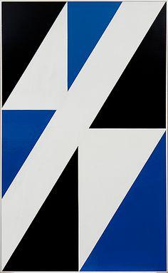 Lars-Gunnar Nordström: Sommitelma, 1980, öljy levylle, 121x74 cm - Bukowskis F179