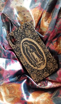 Virgin of Guadalupe bamboo wood iPhone case.