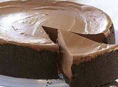 Triple Chocolate Cheesecake ~ This recipe is absolutely fabulous! Much better than the Cheesecake Factory's Chocolate Cheesecake. I think the Expresso really brings out the chocolate flavor. Just Desserts, Delicious Desserts, Dessert Recipes, Yummy Food, Health Desserts, Cupcakes, Cupcake Cakes, Triple Chocolate Cheesecake, Chocolate Cake