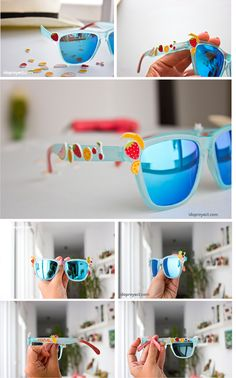 Gafas de sol con frutas hechas con plástico mágico