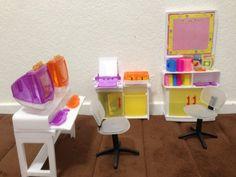 amazoncom barbie size dollhouse furniture computer room play set toys amazoncom barbie size dollhouse