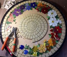 """Designs for Mosaics Templates 1201 Best Geometric Design Round Oval Mosaics Images On Of Designs for Mosaics Templates Mosaic Patterns""""Around the Town"""" - as I call it - mosaic! Mosaic Tile Art, Mosaic Crafts, Mosaic Projects, Mosaic Glass, Mosaic Birdbath, Mosaic Mirrors, Fused Glass, Mosaic Designs, Mosaic Patterns"""