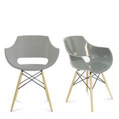 Lot de 2 chaises design Skoll