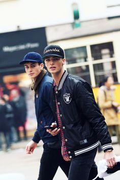 Joe Collier & Edward Wilding  Milan Men's Fashion Week Street Style   Photographed by Nam
