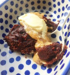 Pumpkin Brownie Pudding with Peanut Butter Sauce - Quirky Cooking