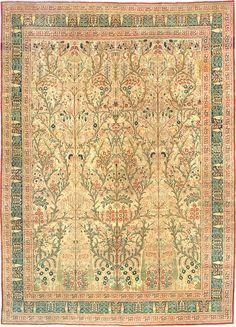 Antique Tabriz Persian Rug 3247 Detail/Large View - By Nazmiyal