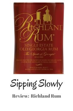 Review of the Richland Rum from the USA Copper Pots, Whisky, Rum, Barrel, Bubbles, Cocktails, Food, Craft Cocktails, Barrel Roll