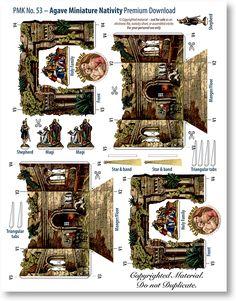 Agave Miniature Nativity Sheet - PaperModelKiosk.com